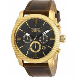 INVICTA 29798 MEN'S AVIATOR QUARTZ MULTIFUNCTION BROWN LEATHER WATCH