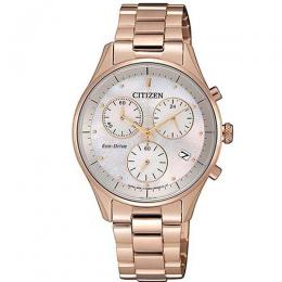 CITIZEN FB1442-86D WOMEN'S ECO-DRIVE ROSE GOLD STAINLESS STEEL MEDIUM WATCH