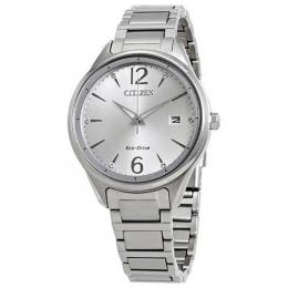 CITIZEN FE6100-59A WOMEN'S CHANDLER ECO-DRIVE SILVER DIAL WATCH