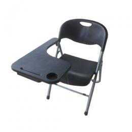 Foldable Plastic Chair with Writing Pad