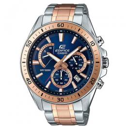 CASIO GENTS EFR-552SG-2AVUDF EDIFICE CHRONOGRAPH TWO-TONE BLUE DIAL BRACELET WATCH
