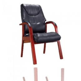 Frame Padded Arm Chair--Black