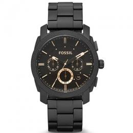 FOSSIL FS4682 MEN'S MACHINE CHRONOGRAPH BLACK BRACELET WATCH