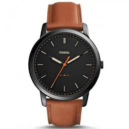 FOSSIL FS5305 MEN'S THE MINIMALIST BROWN LEATHER STRAP WATCH