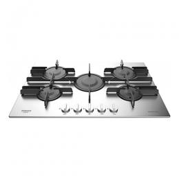 Ariston Built-In Gas Hob, 5 Burners, Stainless Steel, 75 cm