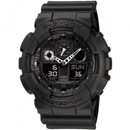 CASIO GENTS GA-100-1A1DR G-SHOCK BLACK ANALOG-DIGITAL LARGE SIZE WATCH