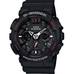 CASIO GENTS GA-120-1ADR G-SHOCK ANALOG DIGITAL BLACK DIAL WATCH