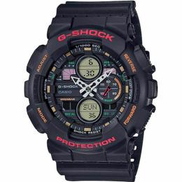CASIO GENT'S GA-140-1A4DR G-SHOCK ANALOG-DIGITAL BLACK RESIN WATCH