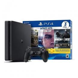 Sony Playstation 4 Console 500GB + 3 Game Bundle (Days Gone + Detroit + Rainbow Six Seige) DW