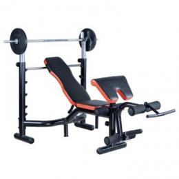 Gategold GG-310-1 Deluxe Weight Bench 50kg + Barbell