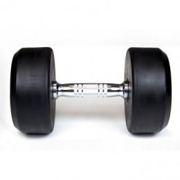 Gategold JDB28A.50 50Kg Black Round Dumbbell - In Pairs