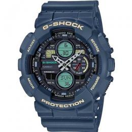 CASIO GENT'S GA-140-2ADR G-SHOCK ANALOG-DIGITAL BLUE RESIN WATCH