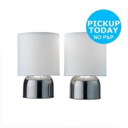 Sainsbury'S Home Collection Sainsbury Home Touch Sensor Table Lamp Pair
