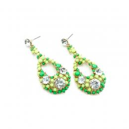 Green Bead & Crystal Earrings N3,500