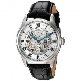 ROTARY GS02940/06 MEN'S GREENWICH AUTOMATIC SKELETON WATCH