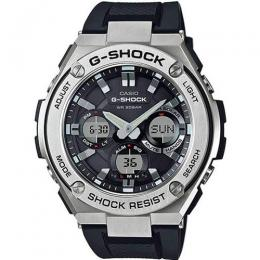 CASIO GENT'S GST-S110-1ADR G-STEEL SHOCK RESISTANT BLACK RESIN LARGE WATCH
