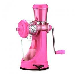 Happy Home Manual Fruits & Vegetable Juicer-Tomato Extractor-Pink