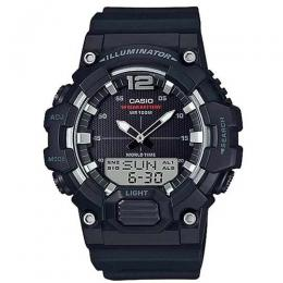CASIO HDC-700-1AV MEN'S ANALOG DIGITAL WORLD TIME BLACK RESIN QUARTZ WATCH