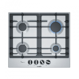 Bosch Serie | 6 60 cm, gas hob with integrated controls, Stainless steel PCP6A5B90