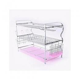Home Choice 3 Tier Dish Drainer Stainless Steel Rack