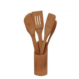 Home Choice Wooden Kitchen Utensils - Set Of 4