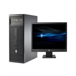 HP 280 G2 MicroTower Desktop Computer Intel Pentium G4400 3.3GHz Processor 4GB RAM 500GB HDD Intel HD Graphics Windows 10 Pro V7Q82EA + 18.5-Inch Screen Monitor - deluxe.com.ng