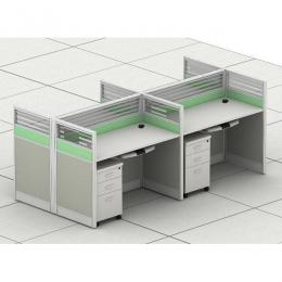 4-Way Panel Workstation with Pedestals
