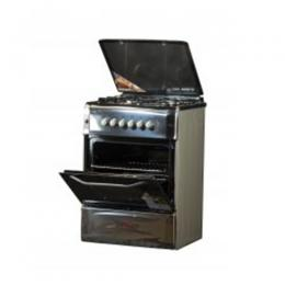 NX-6003 (4+0) BS GAS COOKER -STAINLESS STEEL