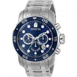 INVICTA 0070 PRO DIVER MEN'S CHRONOGRAPH BLUE DIAL WATCH