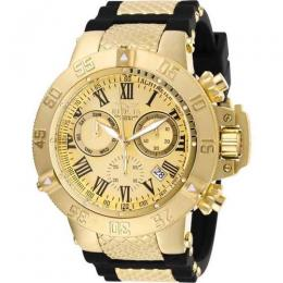 INVICTA 16875 MEN'S SUBAQUA QUARTZ CHRONOGRAPH GOLD DIAL LARGE WATCH