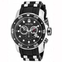 INVICTA 17879 MEN'S PRO DIVER QUARTZ MULTIFUNCTION BLACK DIAL WATCH