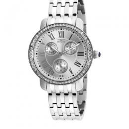 INVICTA 21411 WOMEN'S ANGEL QUARTZ MULTIFUNCTION SILVER DIAL LARGE WATCH