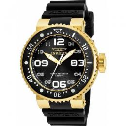 INVICTA 21521 MEN'S PRO DIVER QUARTZ 3 HAND BLACK DIAL LARGE WATCH