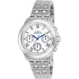 INVICTA 21653 WOMEN'S SPECIALTY QUARTZ CHRONOGRAPH SILVER DIAL WATCH