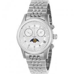 INVICTA 22499 WOMEN'S ANGEL QUARTZ MULTIFUNCTION SILVER DIAL WATCH