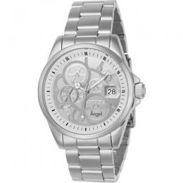 INVICTA 23567 WOMEN'S ANGEL QUARTZ 3 HAND SILVER DIAL LARGE WATCH