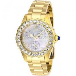 INVICTA 28465 WOMEN'S ANGEL QUARTZ 3 HAND WHITE DIAL WATCH