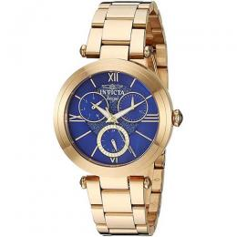 INVICTA 28935 WOMEN'S ANGEL GOLD STAINLESS STEEL OYSTER BLUE DIAL WATCH