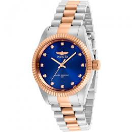 INVICTA 29512 WOMEN'S SPECIALTY TWO-TONE 3 HAND BLUE DIAL WATCH