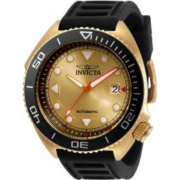 INVICTA 30425 MEN'S PRO DIVER AUTOMATIC 3 HAND GOLD DIAL WATCH