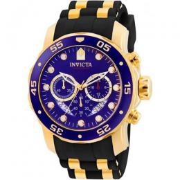 INVICTA 6983 MEN PRO DIVER CHRONOGRAPH BLUE DIAL BLACK POLYURETHANE WATCH