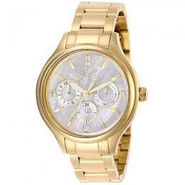 INVICTA 28654 WOMEN'S ANGEL QUARTZ 3 HAND WHITE DIAL WATCH