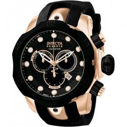 Invicta 0361 Men's Reserve Quartz Chronograph Black Dial Watch