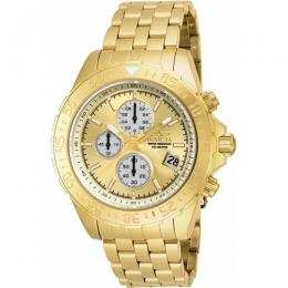 Invicta 18854 Men's Aviator Quartz Multifunction Gold Dial Watch