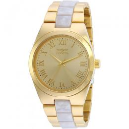 Invicta 20481 Women's Angel Quartz 3 Hand Gold Dial Small Size Watch