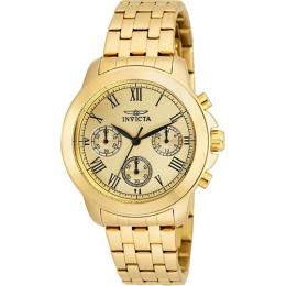 Invicta 21654 Women's Specialty Quartz Chronograph Gold Dial Watch
