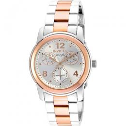 Invicta 21689 Women's Angel Quartz Multifunction Silver Dial Watch