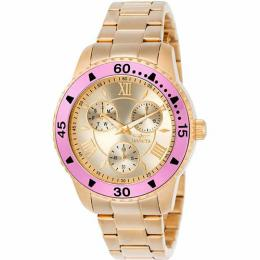 Invicta 21774 Women's Angel Quartz Chronograph Rose Gold Dial Small Size Watch