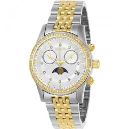 Invicta 22506 Women's Angel Chronograph Crystal White Dial Small Size Watch