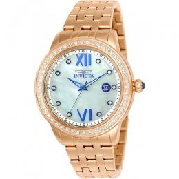 Invicta 23663 Women's Angel Quartz 3 Hand White Dial Watch